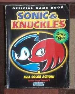 Sonic & Knuckles Official Strategy Game Book Guide Sega Genesis