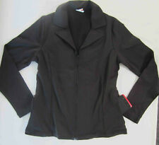Women's fitness casual athleisure Jacket w/ Zipper pockets Black size Small