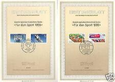 BRD 1985+1986: Sporthilfe-Ersttagsblätter mit den Nr. 1238+1239+1269+1270!