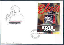 "TUVALU 2012 ELVIS PRESLEY"" ELVIS ON TOUR"" SOUVENIR SHEET III FDC"