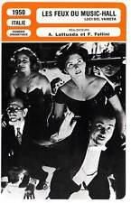 FICHE CINEMA : LES FEUX DU MUSIC HALL - Fellini,Lattuada 1950 Variety Lights