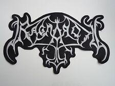 RAGNAROK EMBROIDERED LOGO BLACK METAL BACK PATCH