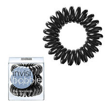 Invisibobble True Black Traceless Ring Spiral Hair Band Tie Telephone Wire Cord