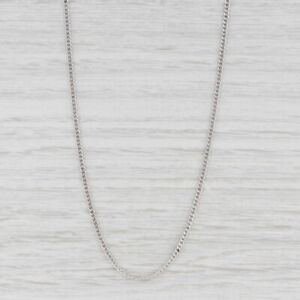 """New Curb Chain Necklace 14k White Gold 18"""" 1.6mm"""