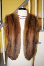 Beautiful Vintage REAL SABLE Fur Sleeveless Jacket Vest Women's S