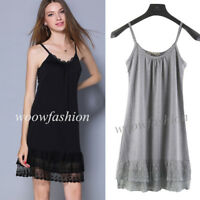 Women Lace Full Slip Dress Mini Dresses Camisole Slip Top Dress Extender Layers