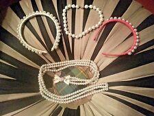 Kids lot - belt, 2 headbands, necklace