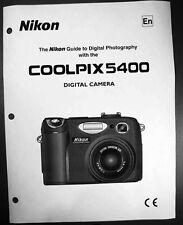 Nikon CoolPix 5400 Digital Camera User Guide Instruction  Manual