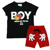 Kids Baby Boys Girls Short Sleeve T-shirt Shorts Pants Summer Outfit Clothes Set