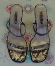 Animal Print Sandals Standard Width (D) Heels for Women