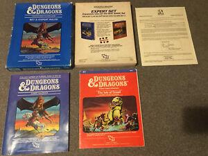 Dungeons & Dragons EXPERT RULES Box Set TSR 1012 1983 2 Books VG
