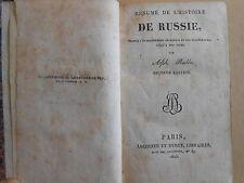 Résumé de l'histoire de Russie A. Rabbe 1825 Lecointe et Durey, relié