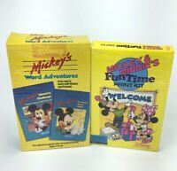 Disney Mickey & Minnie's Fun Time Print Kit & Word Adventure IBM PC Tandy Lot