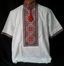Tradition Ukrainian Embroidered Shirt men National Cross stitch XS S M L XL