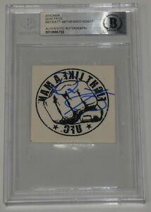 Don Frye Signed 2000 UFC SEG 2x2 Temporary Tattoo BAS Beckett COA Autograph 8 9