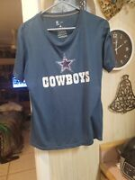 Nike Dallas Cowboys Football Split Team Name Cotton t-shirt men's XLarge Navy XL