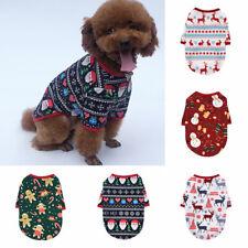 Dog Cat Puppy Small Pet Christmas T-Shirt Jumper Snowman Vest Cotton Clothes