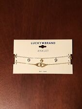 lucky brand anklet two tone new with tags