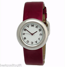 NEW MARC JACOBS WINE RED PATENT LEATHER CUFF,BAND WOMEN WATCH-MBM8516