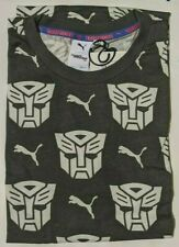 Puma Transformers Aop Tee Charcoal Black Mens Medium M 579626 34