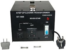 SEVENSTAR 1000 Watt Step Up Down Power Voltage Converter Transformer 110V - 220V