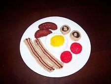 HAND Knitted giocattolo gioco cibo-Full English Breakfast-NUOVO