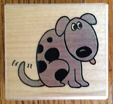 Dog with Spots Inkadinkado Wood Mounted Rubber Stamp