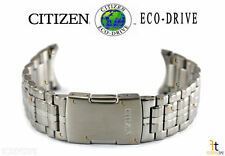 Steel Watch Band Strap S073545 Citizen Eco-Drive S071062 Silver Tone Stainless