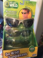Brand New Nat Geo Wild Sunglasses Ages 5+ UV PROTECTION With  3 different LENS