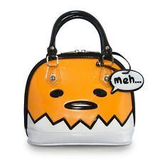 Loungefly Gudetama Big Face Patent Mini Dome Bag Purse Licensed Sanrio
