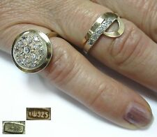 Ukraine USSR Set 2 pcs Ring size 5,75 size 7,75 SILVER stamp 925 and 875  5,76g