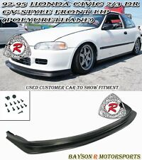 GV-Style Front Lip (Urethane) Fits 92-95 Civic 3dr