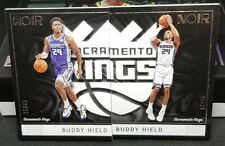 BUDDY HIELD 15/85 & 7/85  2018-19 Noir Matched Set of 2 - SACRAMENTO KINGS