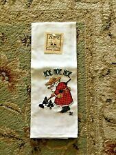 New With Tags Vintage Mary Engelbreit Hoe Hoe Hoe Christmas Tea Towel Santa