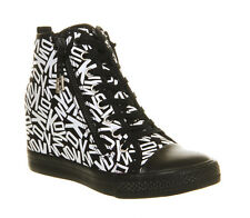 Womens Dkny Carmilla Double Zip Wedge   Trainers  - Uk Size 6 *  Ex-Display