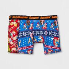 "Nickelodeon Mens Boxer Briefs 2 Pack Shorts Boxers Sz XL 40""-42"" Christmas"