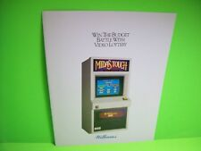 Williams Video Lottery Poker Slot Machine Flyer Casino Game Foldout Promo 1992