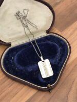 Sterling Silver Quartz Ingot Necklace 5.55gr