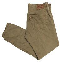 LEVIS Vintage 501 Mens Beige Straight Regular Jeans W36 L30 (B238)