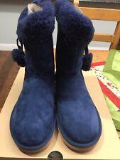 NIB UGG Womens Plumdale Cuff Short Boots Navy Size 8
