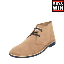 Rrp €105 Morokoi Suede Leather Chukka Boots Eu 45 Uk 11 Us 12 Worn Look Lace Up