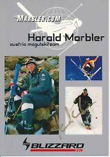 Harald del marmolista esquí alpino freestyle autógrafo Tarjeta firmada 374436