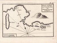 Gravure XVIIIe Île de Skyros Grèce Saint George Σκύρος Sarakinó Greece Σαρακηνό