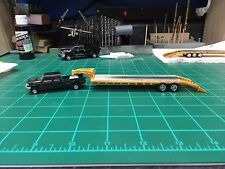 HO scale 1/87 custom Goose Neck Trailer painted yellow and weathered