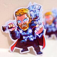 "#4893 Chibi Thor Marvel Avengers Endgame Cute Anime Comics 4x3"" Decal sticker"