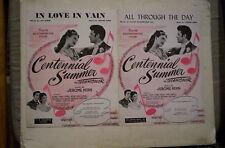 Centennial Summer Lot of 2 Movie Sheet Music 1946 LINDA DARNELL,JEANNE CRAIN