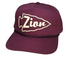 Zion Utah Arrowhead  Burgandy  Snapback Nylon Boardwalk Hat Cap National Park