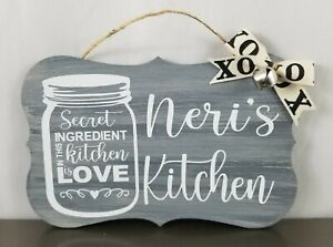 Personalized Kitchen Wall Decor Custom Plaque Custom Sign Style