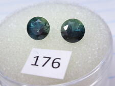 Natural Australian Sapphires Pair of 2 x 5mm round, total of  1.37 cts. ID #176