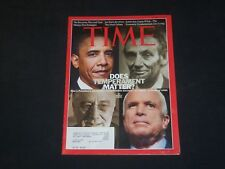 2008 OCTOBER 27 TIME MAGAZINE - OBAMA-MCCAIN, DOES TEMPERMENT MATTER? - T 3297